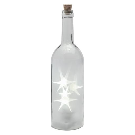 Rotating LED Star Lights In A Clear Wine Bottle