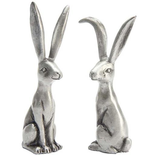 Hare Pewter Ring Holder