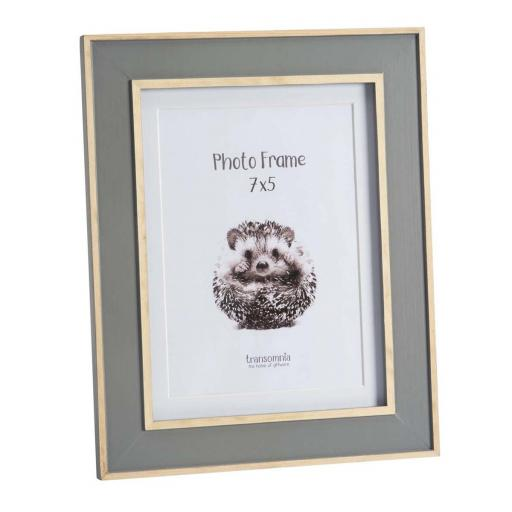 Malmo 7 x 5 Wooden Grey Photo Frame