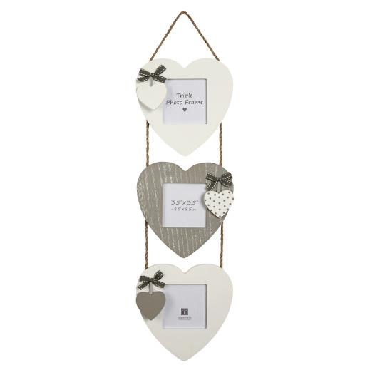 Aria Triple Heart Photo Frame