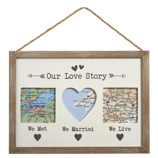 Our Love Story Triple Hanging Frame
