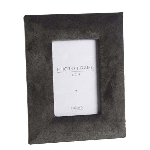 Faux Velvet Dark Grey 6X4 Photo Frame
