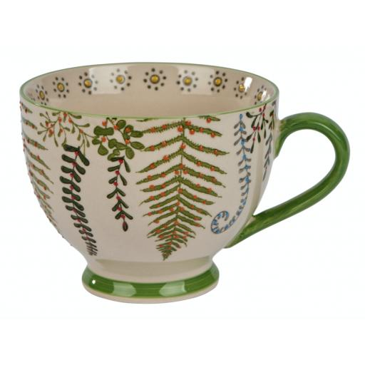 Botanical Leaf Design Mug