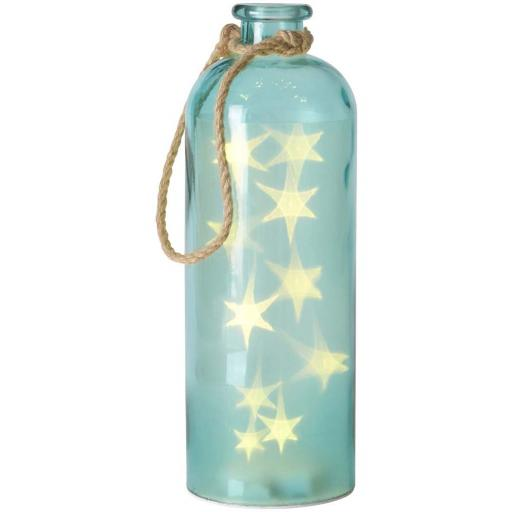 Giant LED Star Lights In A Blue Bottle