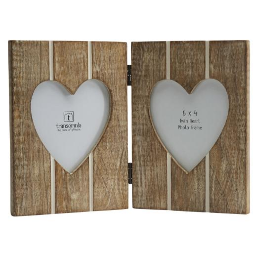 Twin Heart Folding Wooden Frame