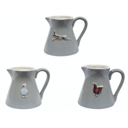 Animal Design Mini Stoneware Jug