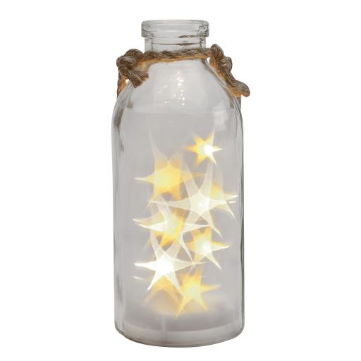 LED Star Lights In A Clear Bottle