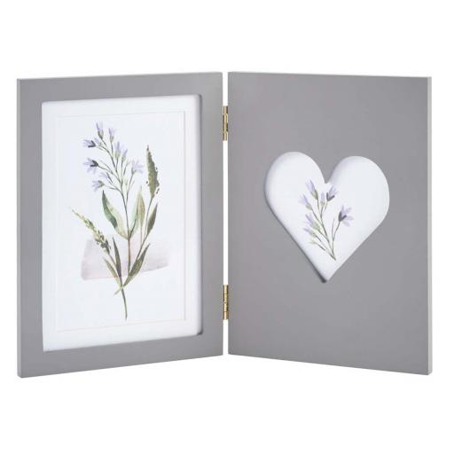 Marisa Twin Folding Grey Photo Frame