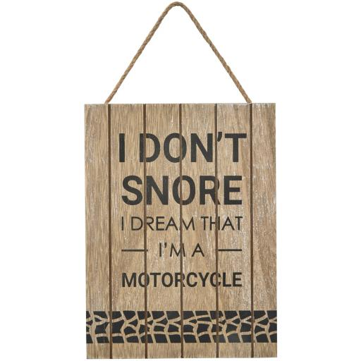 """ I Don't Snore "" Sign"