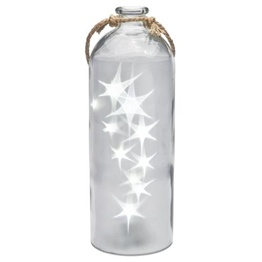 Rotating Super Size LED Star Lights In A Clear Bottle