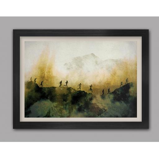 The Fell Runners A3 Framed Print
