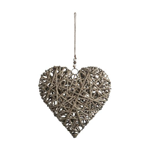 Natural Wicker Hanging Heart