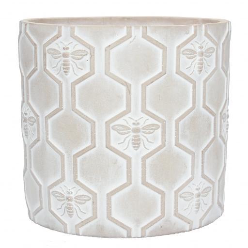 Stone Effect Bees Design Large Plant Pot