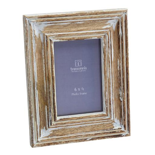 Elma 6X4 Distressed Finish Wooden Photo Frame