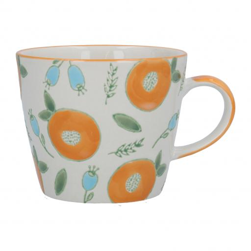 Apricot & Berry Design Mug by Gisela Graham