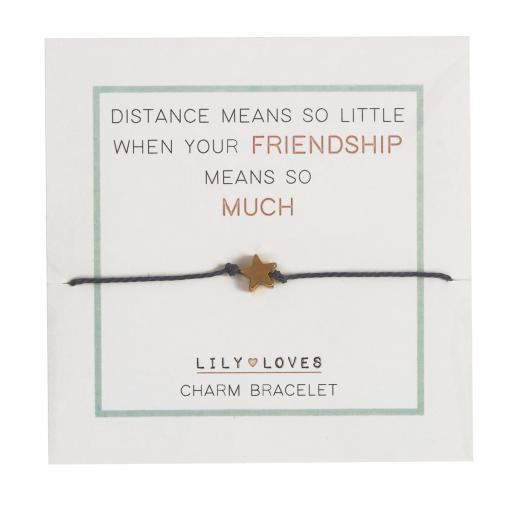 Lily Loves Friendship Heart Charm Bracelet