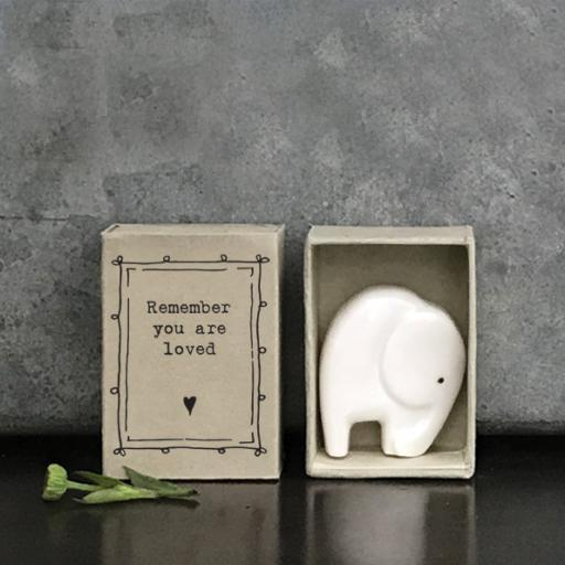Matchbox Ceramic Elephant Remember You Are Loved By East Of India