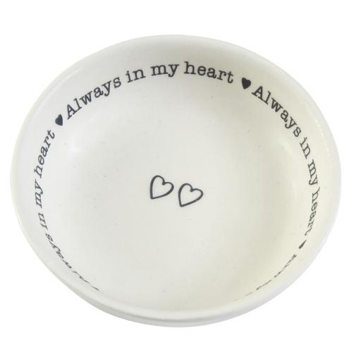Small Porcelain Dish Always In My Heart