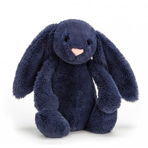 Medium Bashful Navy Bunny by Jellycat