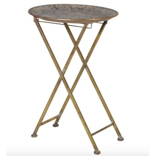 Folding Metal Occasional Table