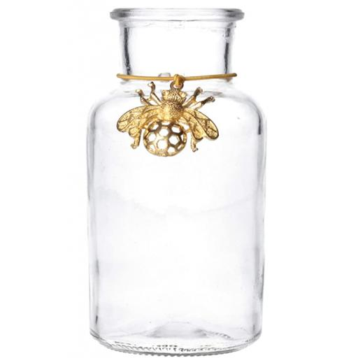 Gold Bee Mini Glass Vase
