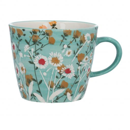Blue Wild Daisy Design Mug by Gisela Graham
