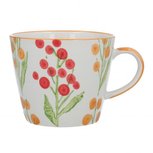 Red Wattle Design Mug by Gisela Graham