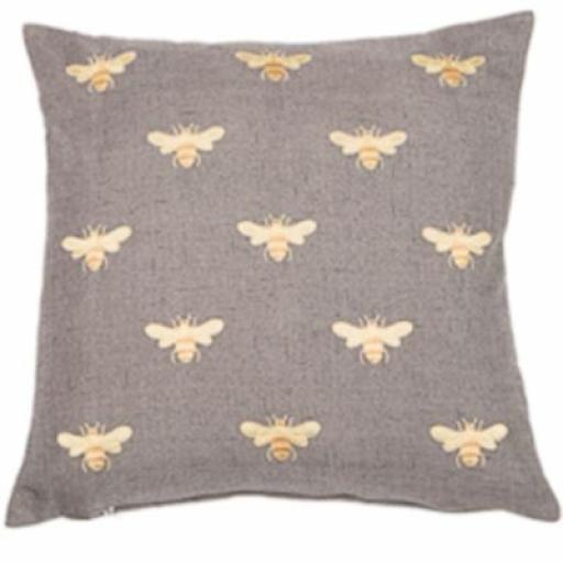 Abeja Bee Design Embroidered Cushion