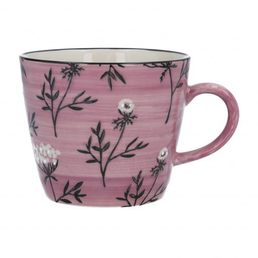 Dusky Mauve Cow Parsley Design Mug by Gisela Graham
