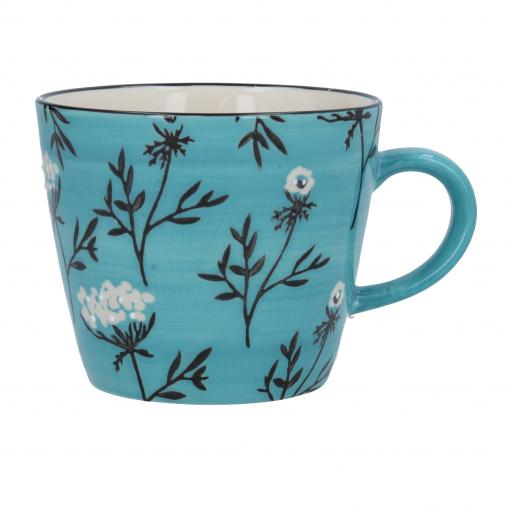 Blue Cow Parsley Design Mug by Gisela Graham