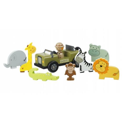 Wooden Safari Play Set