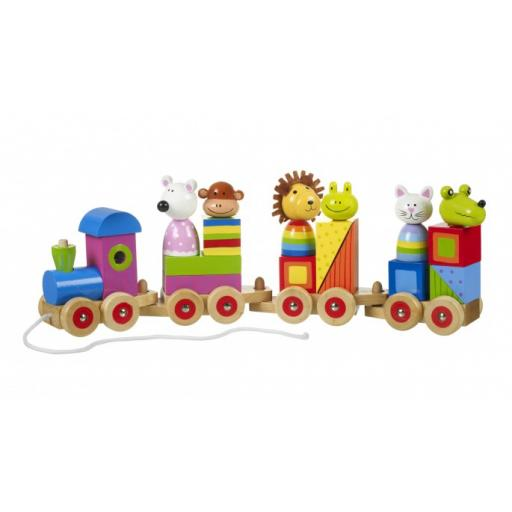 Wooden Animal Puzzle Train