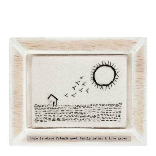 Home Is Where Friends Meet Embroidered Picture By East Of India