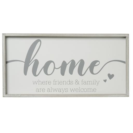 Framed Wooden Home Sign
