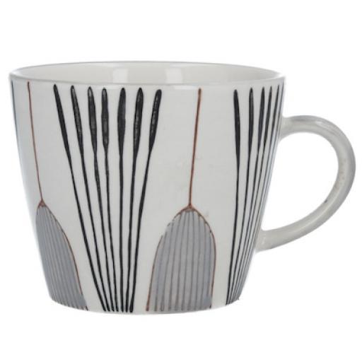 Grey Tulip Design Mug by Gisela Graham