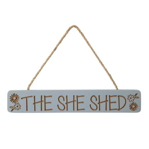Etched She Shed Sign