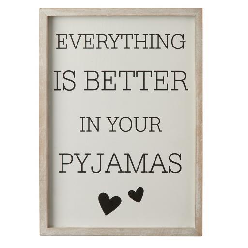 Wooden Framed Pyjamas Sign
