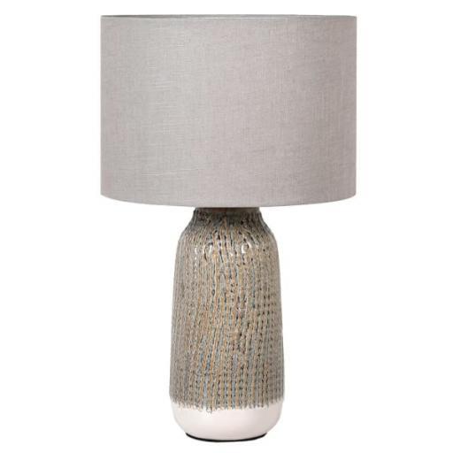 Stripe Effect Ceramic Lamp