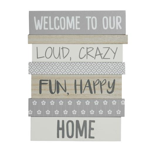 Multi-Panel Welcome To Our Home Sign