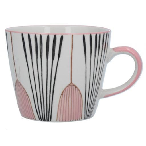 Pink Tulip Design Mug by Gisela Graham