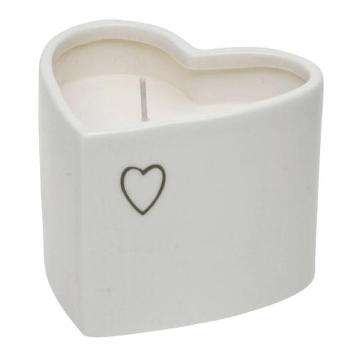 Heart Shape Vanilla Candle In Pot