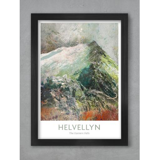 Framed A3 Size Helvellyn Abstract Print