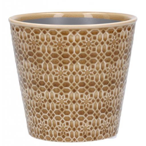Sand Mosaic Ceramic Plant Pot