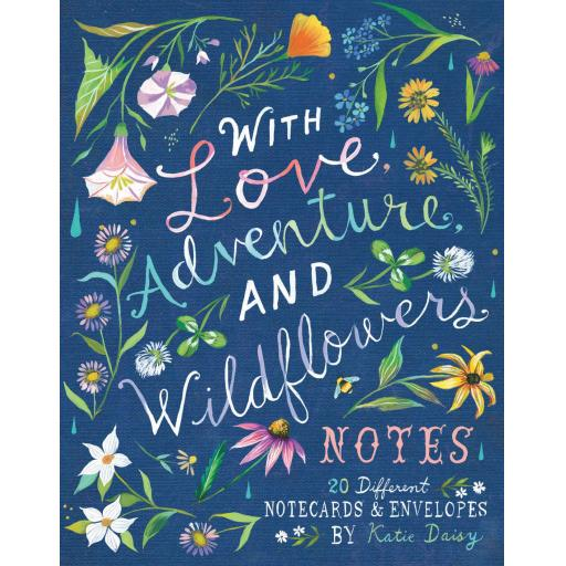 WITH LOVE ADVENTURE AND WILDFLOWERS NOTECARDS & PENCILS SET