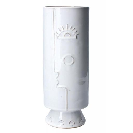 Small Abstract Face Design Vase