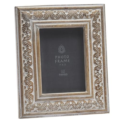 Hand-Carved Wooden 7 x 5 Frame