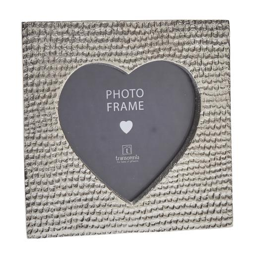 Stippled Aluminium Heart Frame
