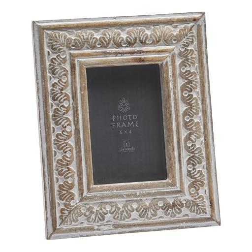 Hand-Carved Wooden 6 x 4 Frame