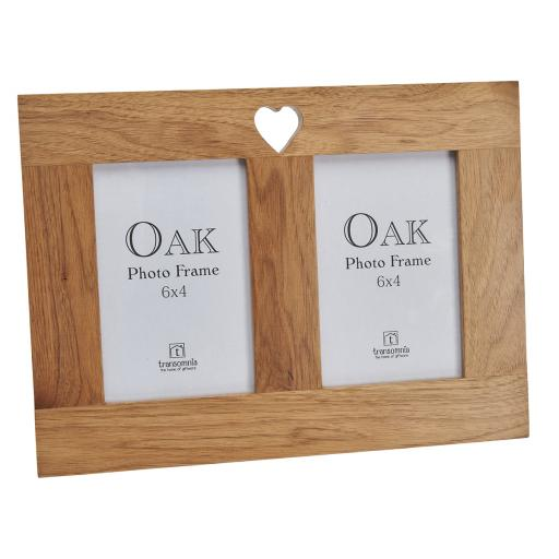 Oak Twin Photo Frame