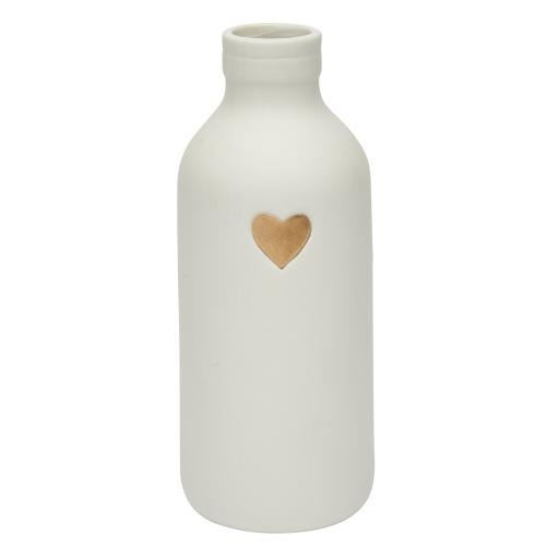 Heart Motif Small Bottle Vase